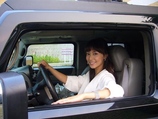 真实美女开车生活照