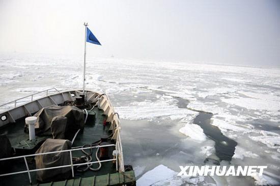 山东遭遇40年来最严重海冰灾害致9.5万人受灾