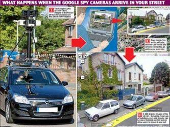 谷歌地图拍摄车疯狂搜刮街景图