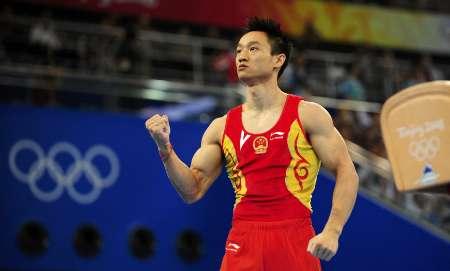 图文-奥运男子个人全能决赛开赛 杨威豪气冲天
