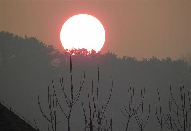 今日绚丽的落日 - qdgcq - 青岛从容
