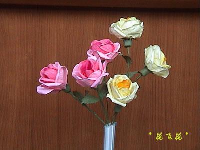 用纸做玫瑰花图片
