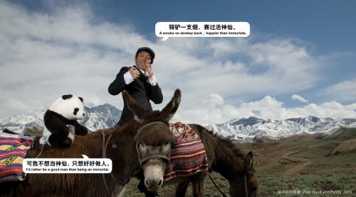 熊猫骑驴去天山拍大片 - 赵半狄 - 熊猫艺术家赵半狄的博客