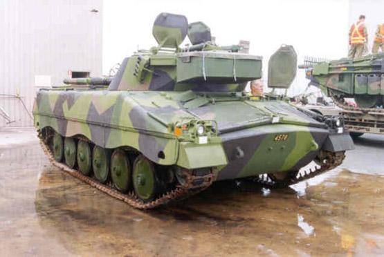 图文:瑞典IKV-91轻型坦克车体后部特写