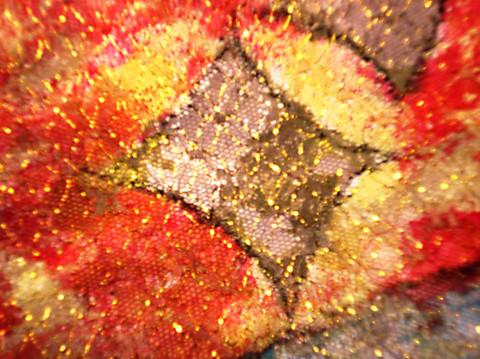 恶之花开(NO.1 梅)--纸面油画局部 - 会笑的蜻蜓 - 会笑的蜻蜓