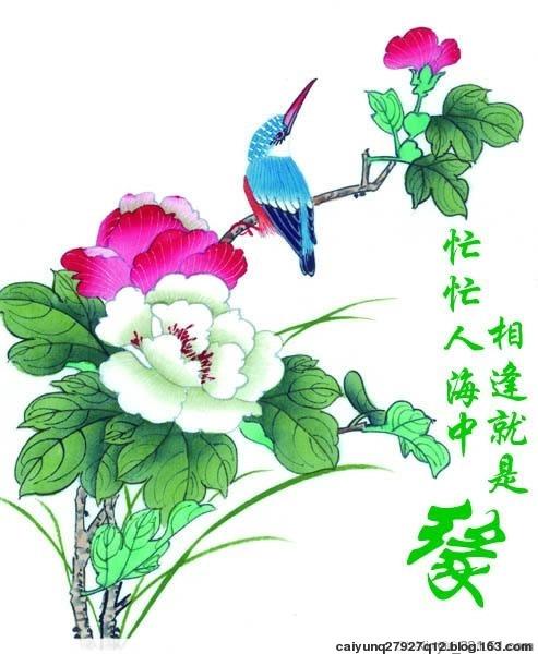 翠鸟百花图 - 靓剑 - 靓剑 的博客