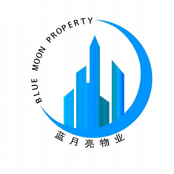 蓝月亮物业logo设计