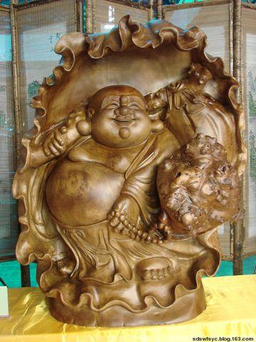 缅甸黄金樟荷花弥勒佛  高90cm - 玉貔貅 - 根基地博客