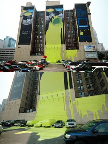 巨幅广告中的油漆泄漏事故 - 明月 - 明月艺术。只为优质服务