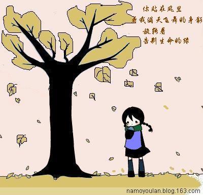 【梦想和快乐】落叶对家的眷恋 - 一抹幽蓝 - 一抹幽蓝