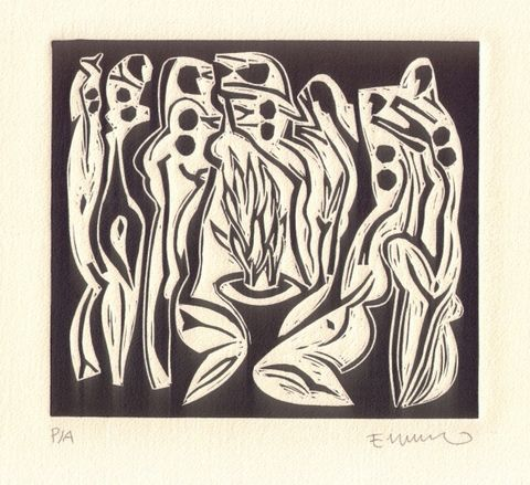 墨西哥画家:埃米利奥·卡拉斯科·古铁雷斯的作品 - 何鸣芳 - 何鸣芳的版画藏书票博客