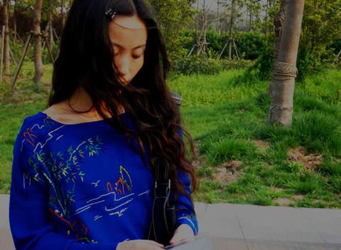 太虚筱园--我乱针绣的衣服 - 会笑的蜻蜓 - 会笑的蜻蜓