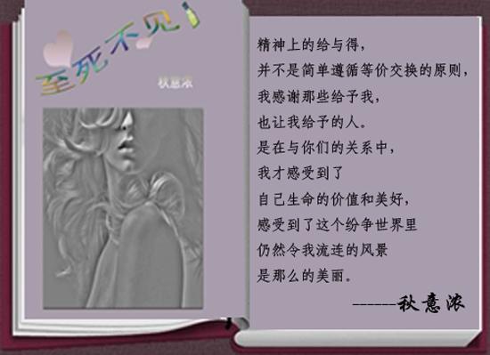 """秋意浓的小说""""至死不见""""背景图片"""