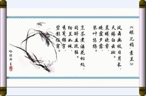 【国兰传奇之二】秦淮河畔的空谷幽兰 - 晴玥 -