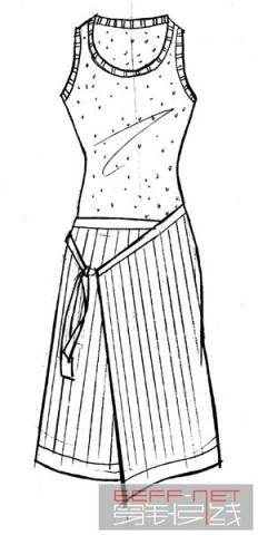 连衣裙 裙 手绘