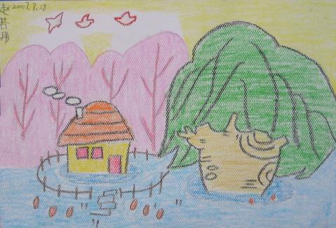 学生   我很喜欢的学生的一幅画