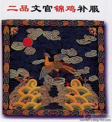 清朝官服胸前补服 - 海阔山遥 - .