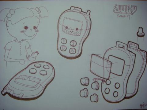 第一次的玩具手绘图