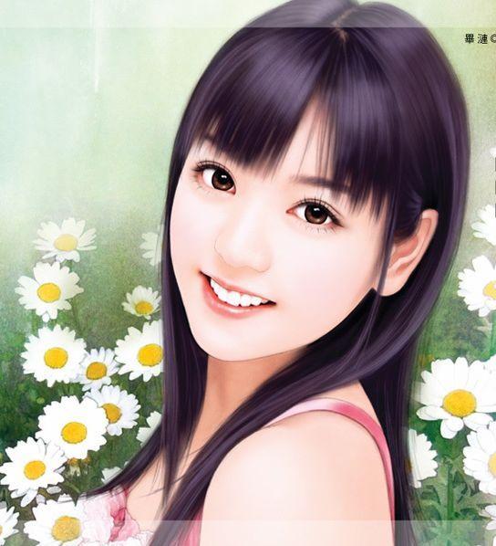 手绘现代女画(三)