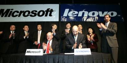科技时代_联想与微软结盟签订12亿美元软件大单