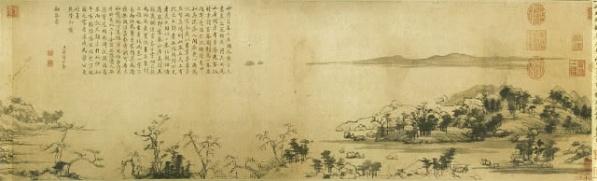 中国十大名画之 《富春山居图》黄公望 - 牧马人 - 牧马人