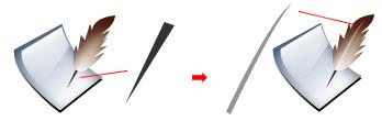 【fw教程】Fireworks 制作一个水晶羽毛笔图标 - 玫瑰夫人 -