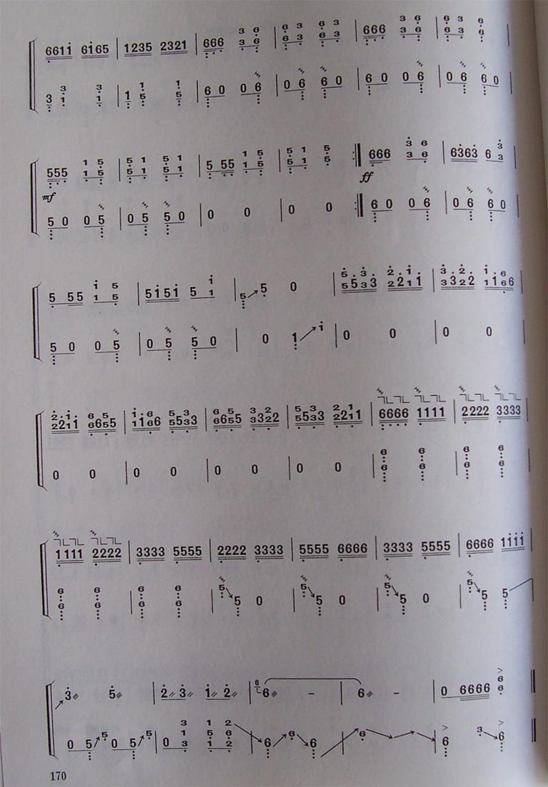 古筝曲谱:《雪山春晓》