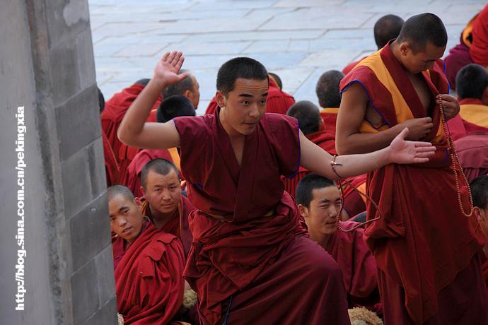 【实拍】亲历塔尔寺喇嘛的辩经(组图33张)