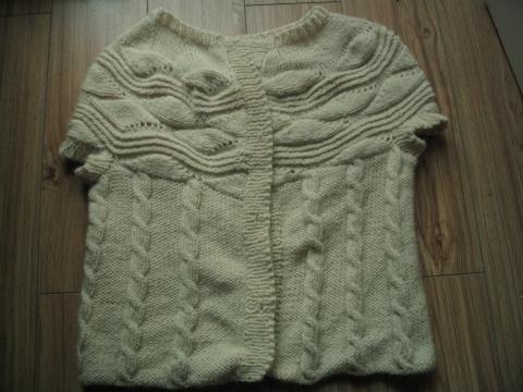白色短袖毛衣 - 冰凌 - 博  采  众  长