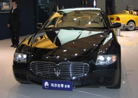 跑车皇后 玛莎拉蒂总裁 高清图片