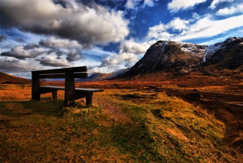 A Well Placed Seat Landscape Photograph