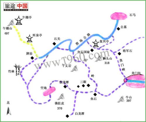 西湖毅行线路地图