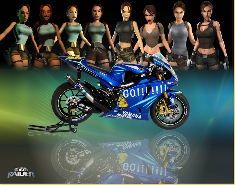 Lara_Croft with motorcycle 2副本