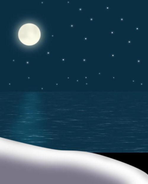 PS精彩鼠绘海上升明月宁静画面 - 迎春 -