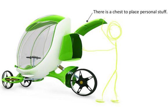 绿色环保概念电动三轮车