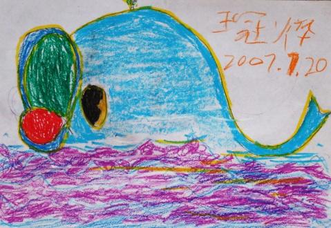 王冠烨儿童画作品
