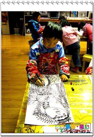 09春中级班(周六晚)美术活动1——花仙子 - 童画-童心儿童美术 - 童画-童心儿童美术