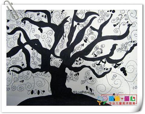 童画童心08秋季高级班美术活动11——发现树之美 - 童画-童心儿童美术 - 童画-童心儿童美术