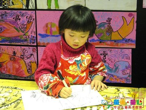 童画童心08秋季小小B班美术活动14——手套的创意联想 - 童画-童心儿童美术 - 童画-童心儿童美术