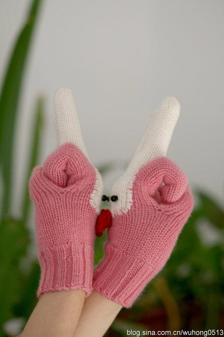 """兔年的最佳礼物鈥斺斝""""淄脋~手套(P解编织过程)"""