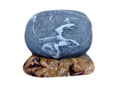 跳绳(原创) - 绿泥石 - 大渡河奇石的博客