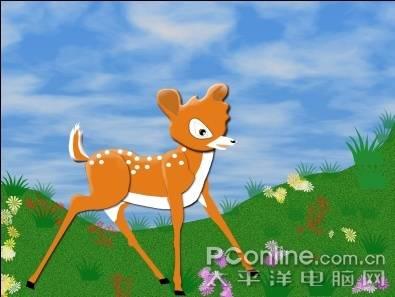 PS绘制活泼灵动的梅花鹿 - 迎春 -