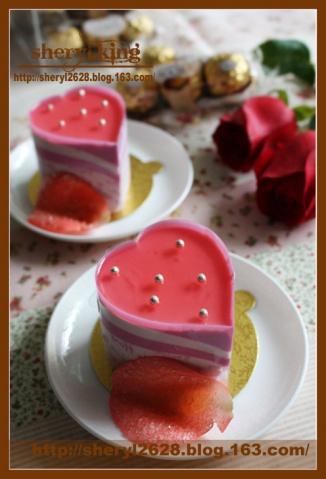 甜蜜情人节(一)——玫瑰芝士冻饼 - 出尘素影 - 淡极始知花更艳