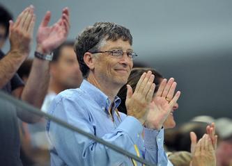 水立方里的观众----比尔..盖茨