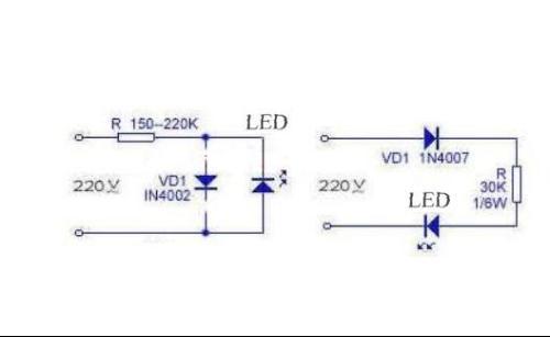 220v串联灯泡接线图
