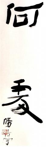 (隶书)本来无挂碍,何处是法门 - 修亭心迹 - 修亭心迹