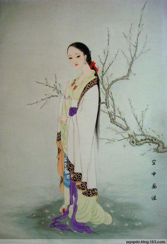 晨妆赏梅图             - 空中画缘 - 空中画缘的博客