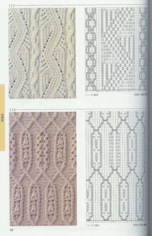 棒针编织图1(细纹路绞棒) - 叶飘香 - 叶飘香的博客