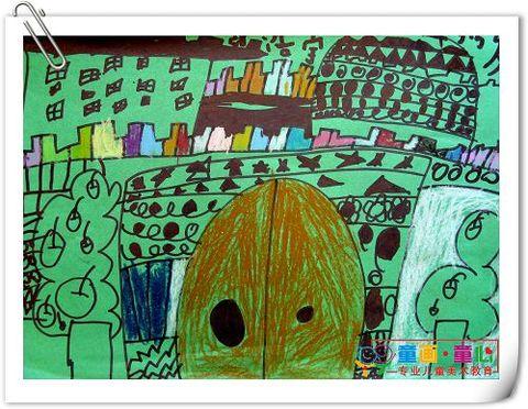 童画童心08秋季启蒙A班美术活动14——给白雪公主设计的城堡 - 童画-童心儿童美术 - 童画-童心儿童美术