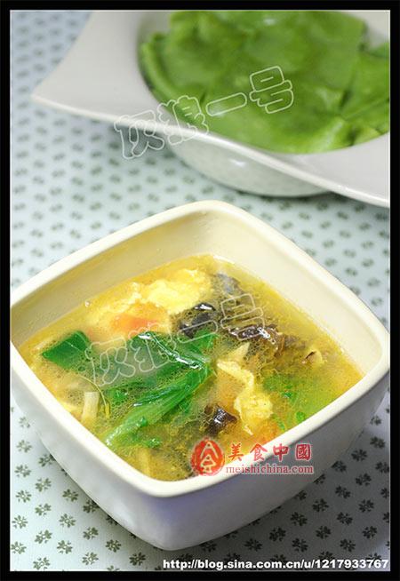 陕西小吃菠菜蒜蘸面